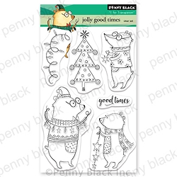 Penny Black - Clear Stamp - Jolly Good Times
