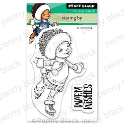 Penny Black - Clear Stamp - Skating By