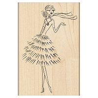 Penny Black - Wood mounted rubber stamp - Dressed to Impress