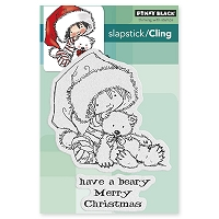 Penny Black - Slapstick Cling Stamp - Beary Merry