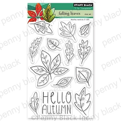 Penny Black - Clear Stamp - Falling Leaves
