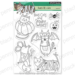 Penny Black - Clear Stamp - Bats & Cats