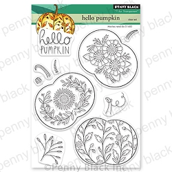 Penny Black - Clear Stamp - Hello Pumpkin
