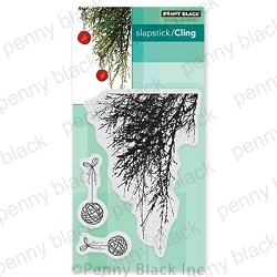 Penny Black - Slapstick Cling Stamp - Emerald Boughs