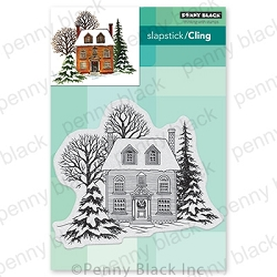 Penny Black - Slapstick Cling Stamp - Warm Reception