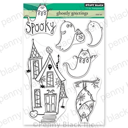 Penny Black - Clear Stamp - Ghostly Greetings