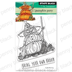 Penny Black - Clear Stamp - Pumpkin Party