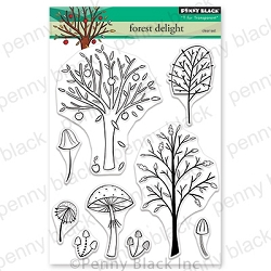Penny Black - Clear Stamp - Forest Delight