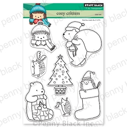 Penny Black - Clear Stamp - Cozy Critters