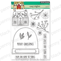 Penny Black - Clear Stamp - Cozy Nights