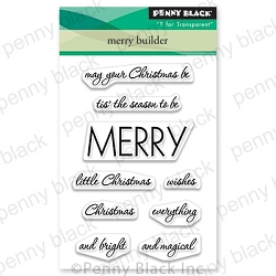 Penny Black - Clear Stamp - Merry Builder