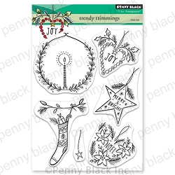 Penny Black - Clear Stamp - Trendy Trimmings