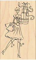 Penny Black - Wood Mounted Stamp - Gift Tower