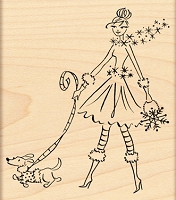 Penny Black - Wood Mounted Stamp - Sparkles and Spots