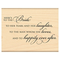 Penny Black Wood Stamp - The Bride...