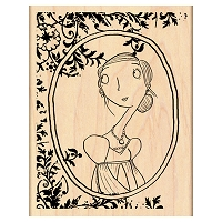 Penny Black Wood Stamp - Mona Lisa
