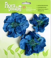 *Petaloo - Velvet Roses - Royal Blue