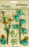 Petaloo - Botanica Collection - Floral Ephemera - Teal :)