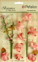 Petaloo - Botanica Collection - Floral Ephemera - Coral :)