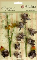 Petaloo - Botanica Collection - Floral Ephemera - Gray :)