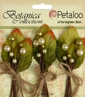 Petaloo - Botanica Collection - Spring Berry Clusters X 3 - Yellow / Green