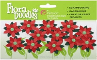 Jeweled Poinsettias
