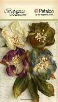 Petaloo - Botanica Collection - Blooms X 4 - Grey Blue/Purple/Green :)
