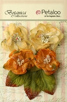 Petaloo - Botanica Collection - Sugared Blooms - Gold/Sienna