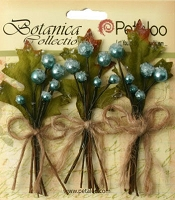 Petaloo - Botanica Collection - Sugared Berry Clusters - Teal :)