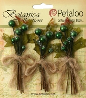 Petaloo - Botanica Collection - Sugared Berry Clusters - Green :)