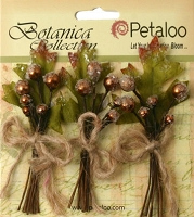 Petaloo - Botanica Collection - Sugared Berry Clusters - Brown  :)
