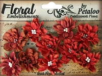 Petaloo - Dahlias X 10 - Teastained Reds