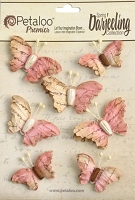 Petaloo - Printed Darjeeling Collection - Shades of Soft Pink - 7 Pieces - Wild Butterflies - Pink