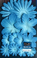 Petaloo - core'dinations - Mulberry Paper Flowers - Marine Blue
