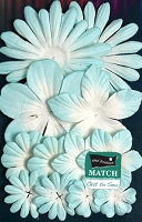 Petaloo - core'dinations - Mulberry Paper Flowers - Aqueduct Lt. Blue