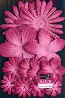 Petaloo - core'dinations - Mulberry Paper Flowers - Love Potion Fuschia
