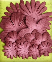 Petaloo - core'dinations - Mulberry Paper Flowers - Burgundy