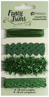 Petaloo - Fancy Trims - Glitz Assortment - All Green