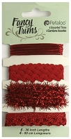 Petaloo - Fancy Trims - Glitz Assortment - All Red