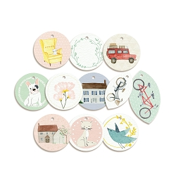 Piatek 13 - We Are Family Collection - Decorative Tags (ephemera round)