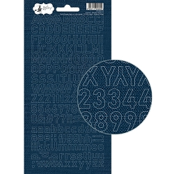 Piatek 13 - Soulmate Collection - Alphabet Stickers 02 Denim