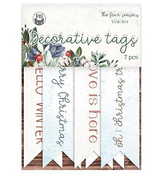 Piatek 13 - The Four Seasons Winter - Decorative Tags (word flags)