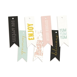 Piatek 13 - Around the Table - Decorative Tags (word flags)