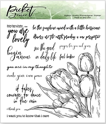 Picket Fence Studios - Early Tulip Bouquet Clear Stamps