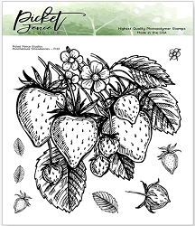 Picket Fence Studios - Ponchatoula Strawberries Clear Stamps