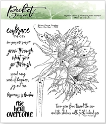 Picket Fence Studios - Face The Sun Clear Stamps
