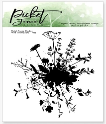 Picket Fence Studios - Wild Wildflowers Clear Stamps