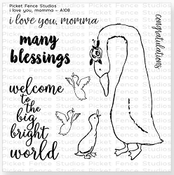 Picket Fence Studios - I love you, Momma Clear Stamps