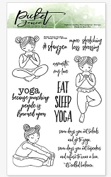 Picket Fence Studios - Eat Sleep Yoga Clear Stamps
