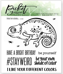 Picket Fence Studios - Charlie The Chameleon Clear Stamps